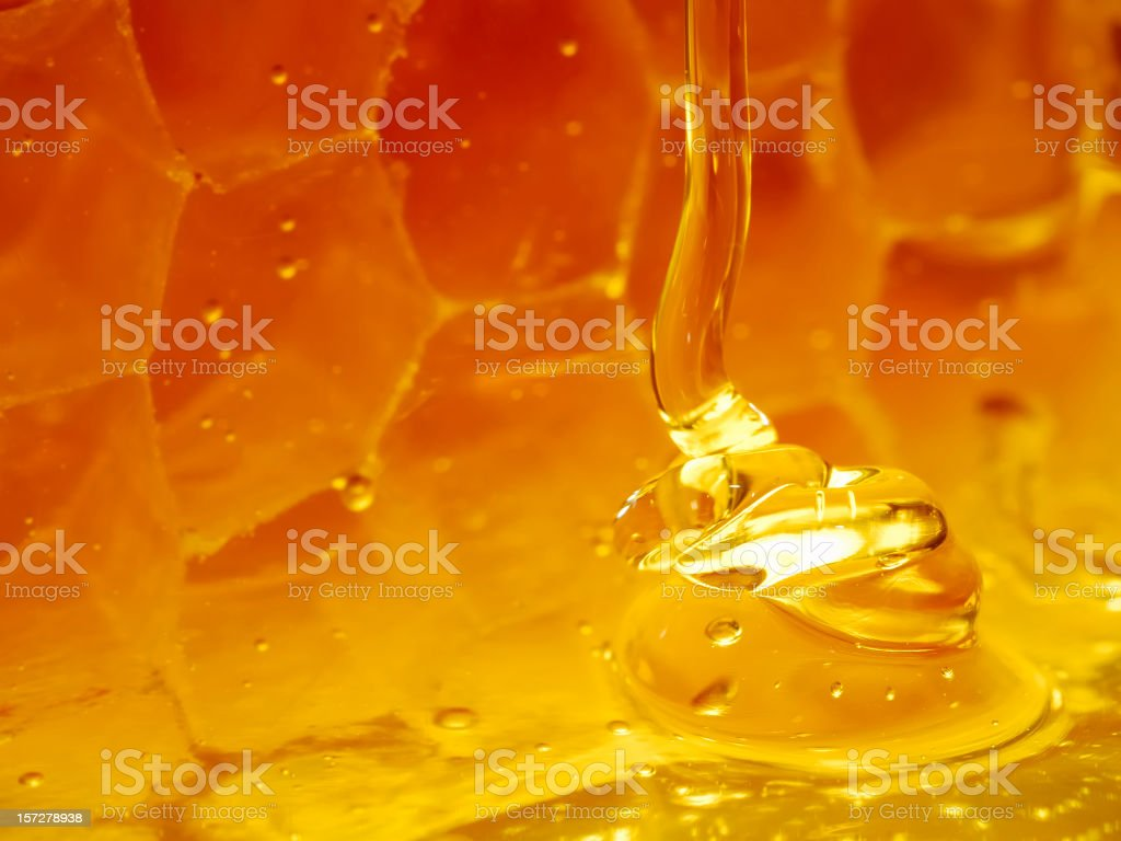 Glowing honeyfall stock photo