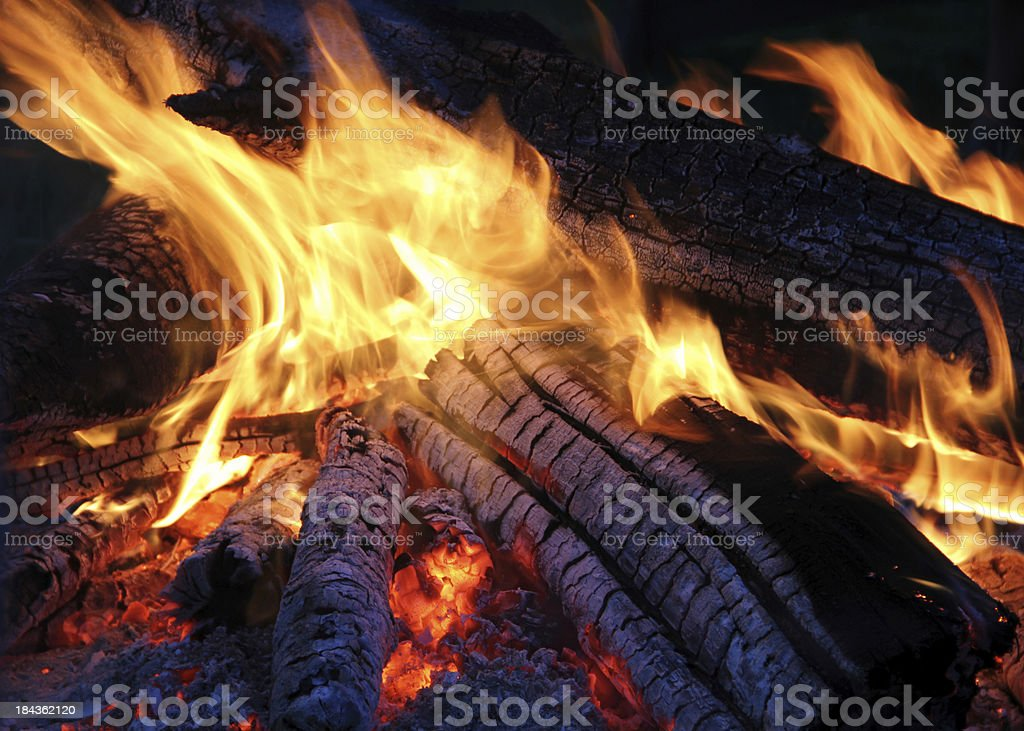 Glowing Hot Campfire royalty-free stock photo