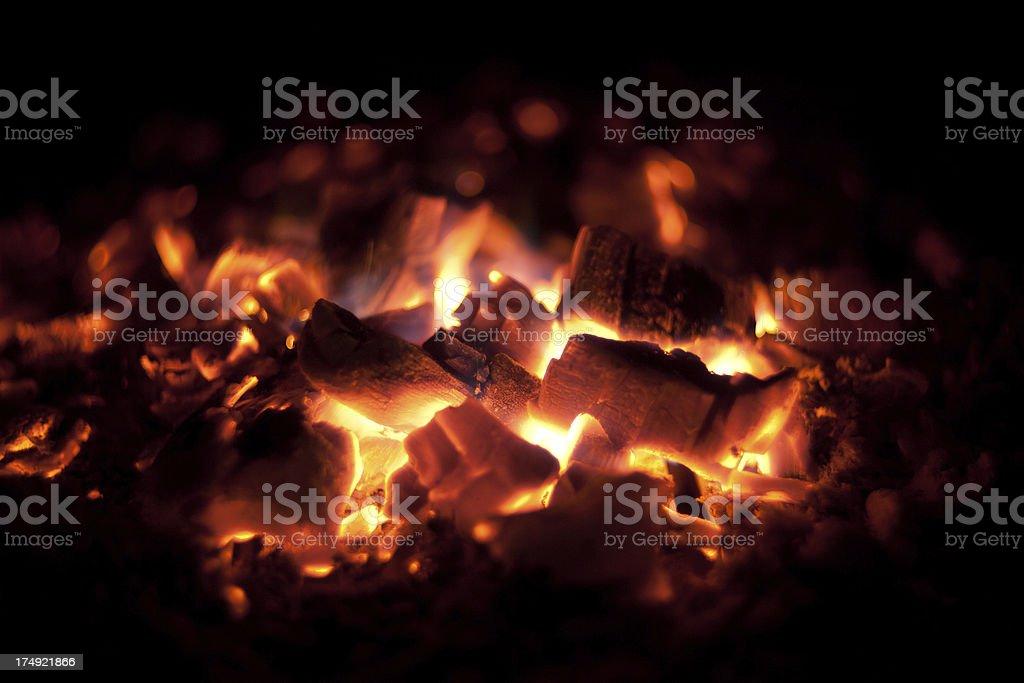 Glowing hot fire stock photo