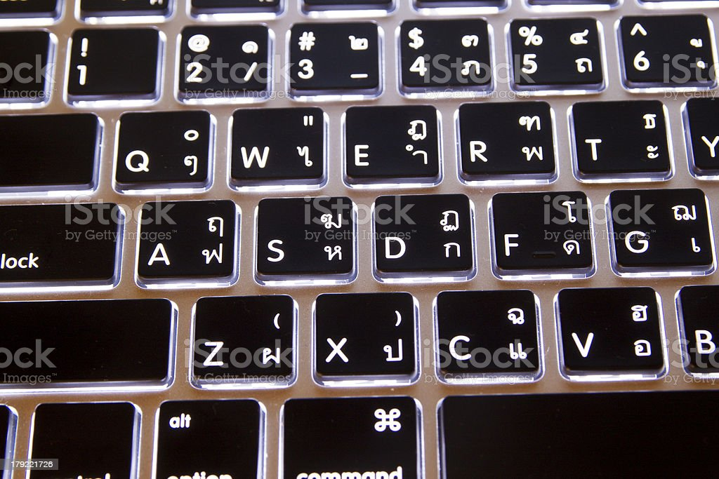 Glowing keyboard royalty-free stock photo