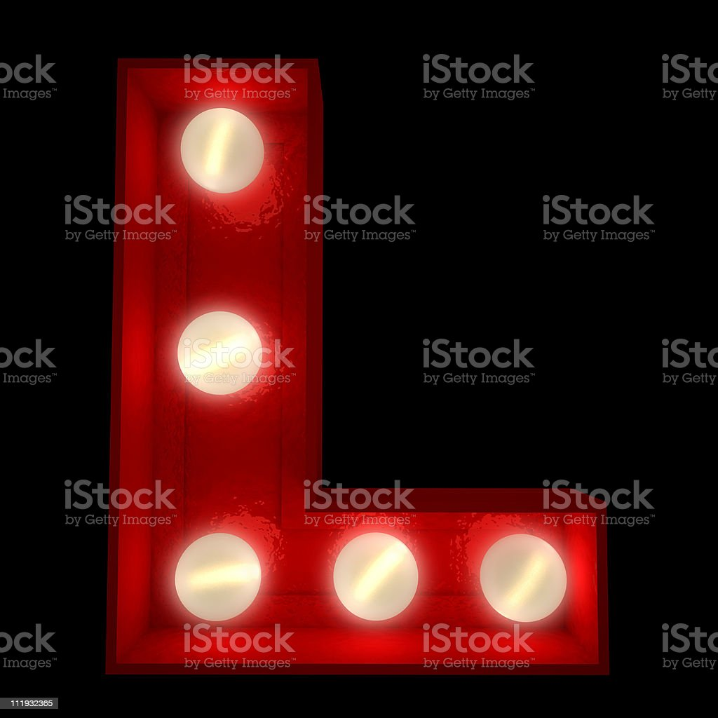Glowing L royalty-free stock photo