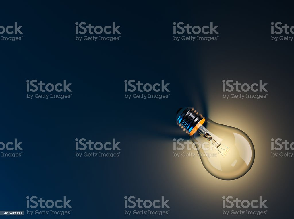Glowing Light Bulb stock photo