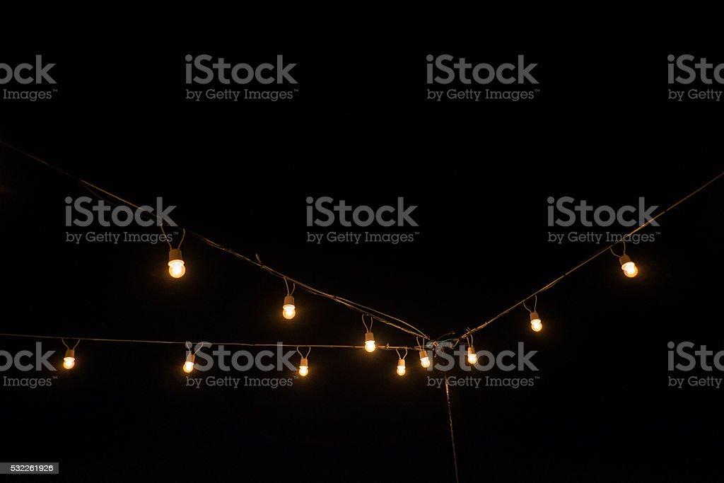 Glowing light bulbs design. stock photo