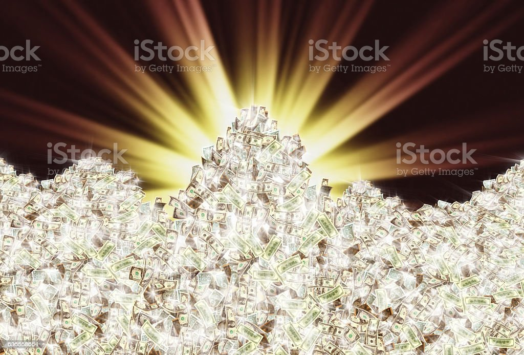 glowing money stock photo