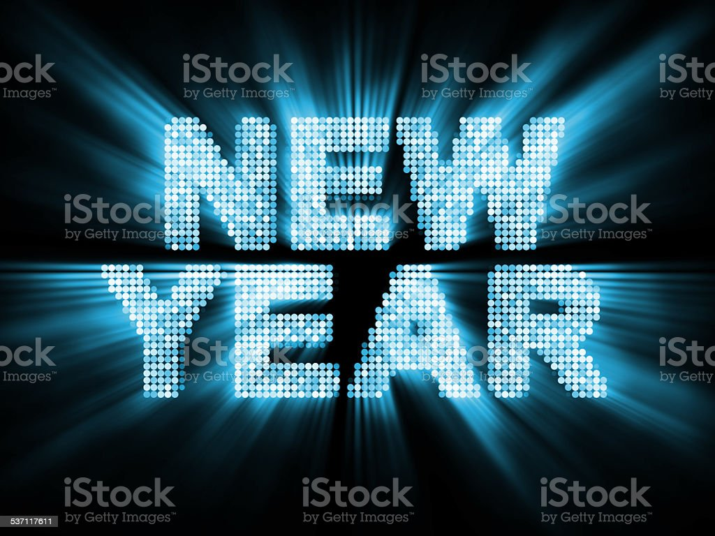 Glowing New Year Background stock photo