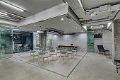 Glowing office in loft style
