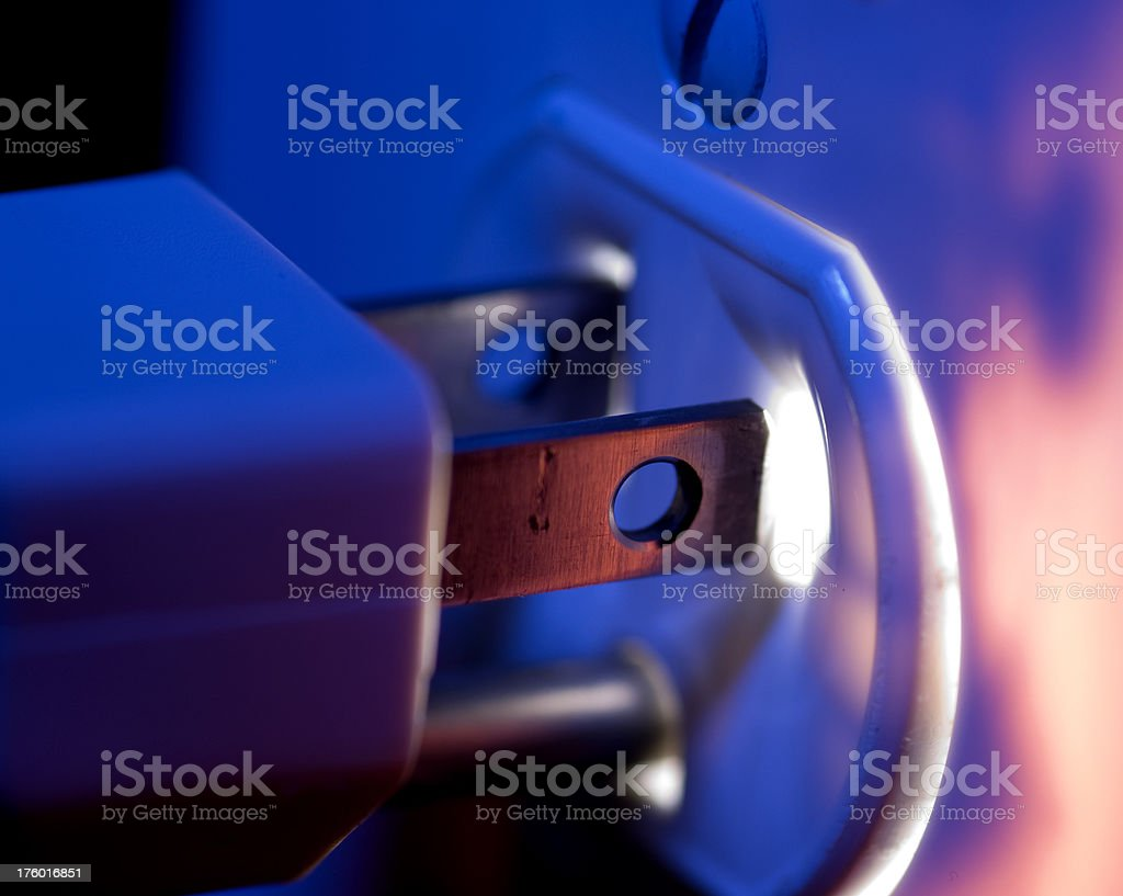 Glowing Outlet and Plug royalty-free stock photo