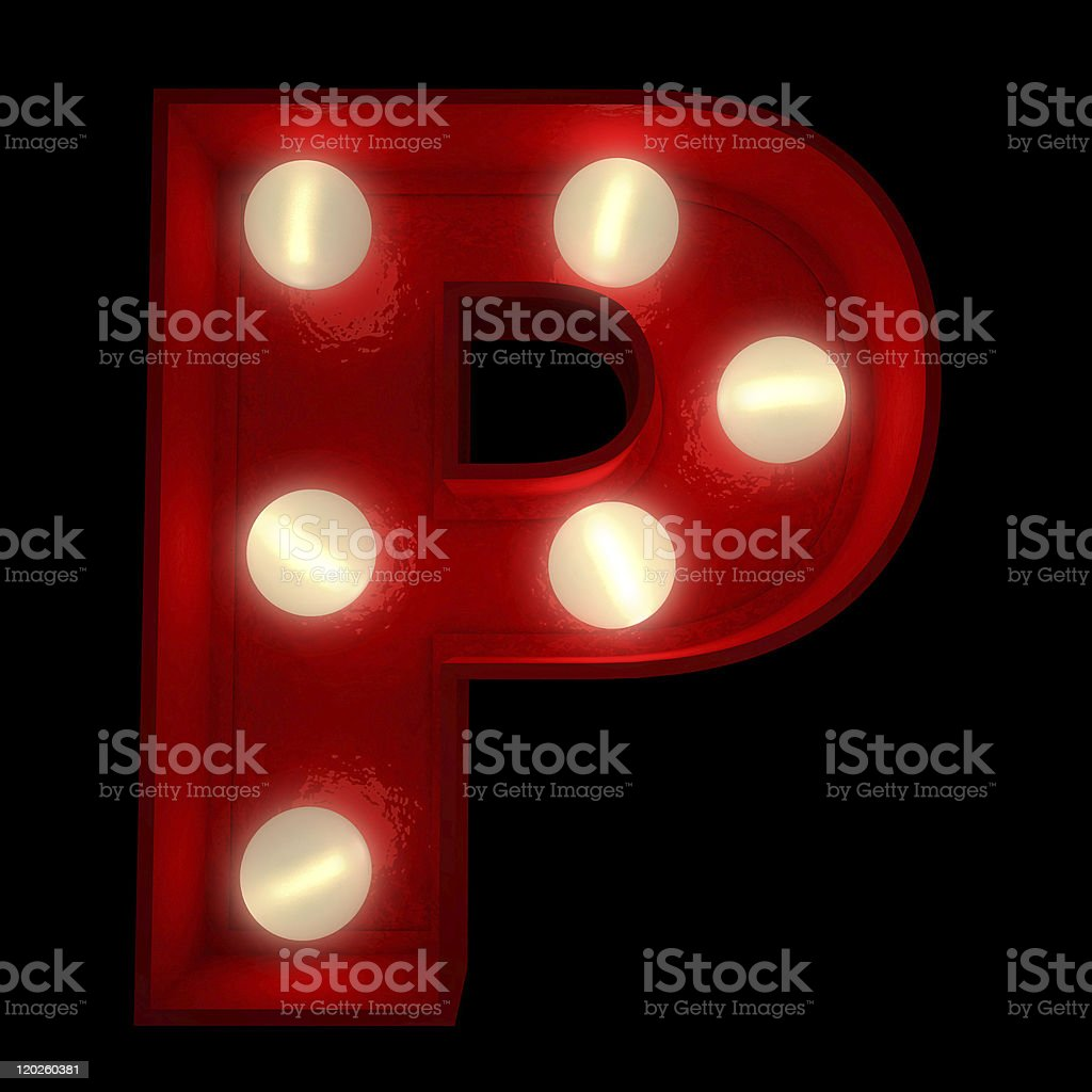 Glowing P royalty-free stock photo