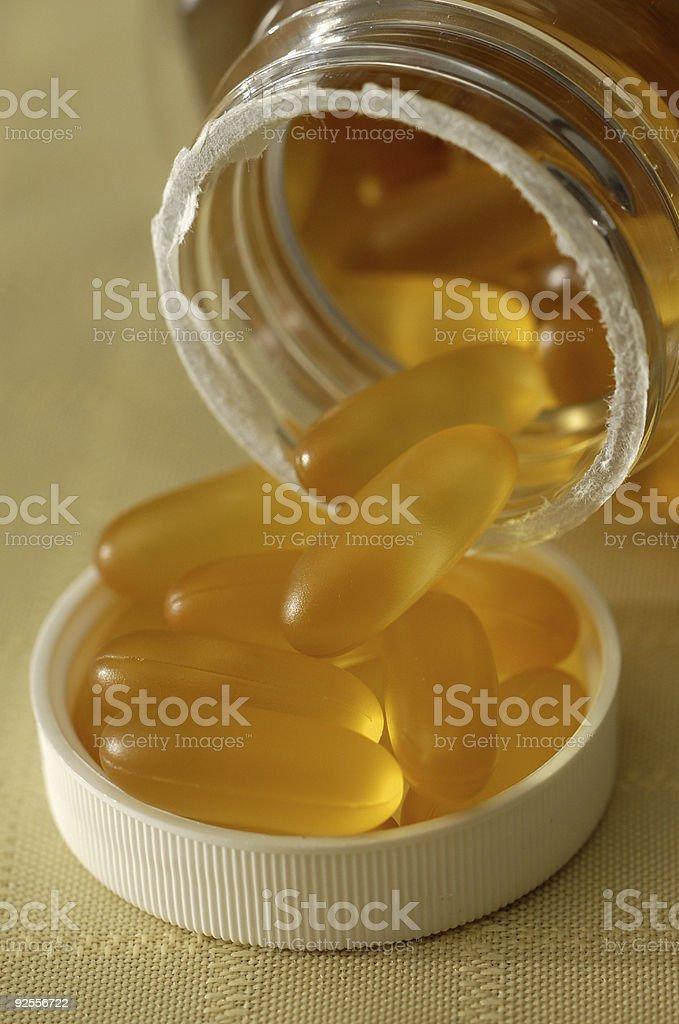 Glowing pills 1 royalty-free stock photo