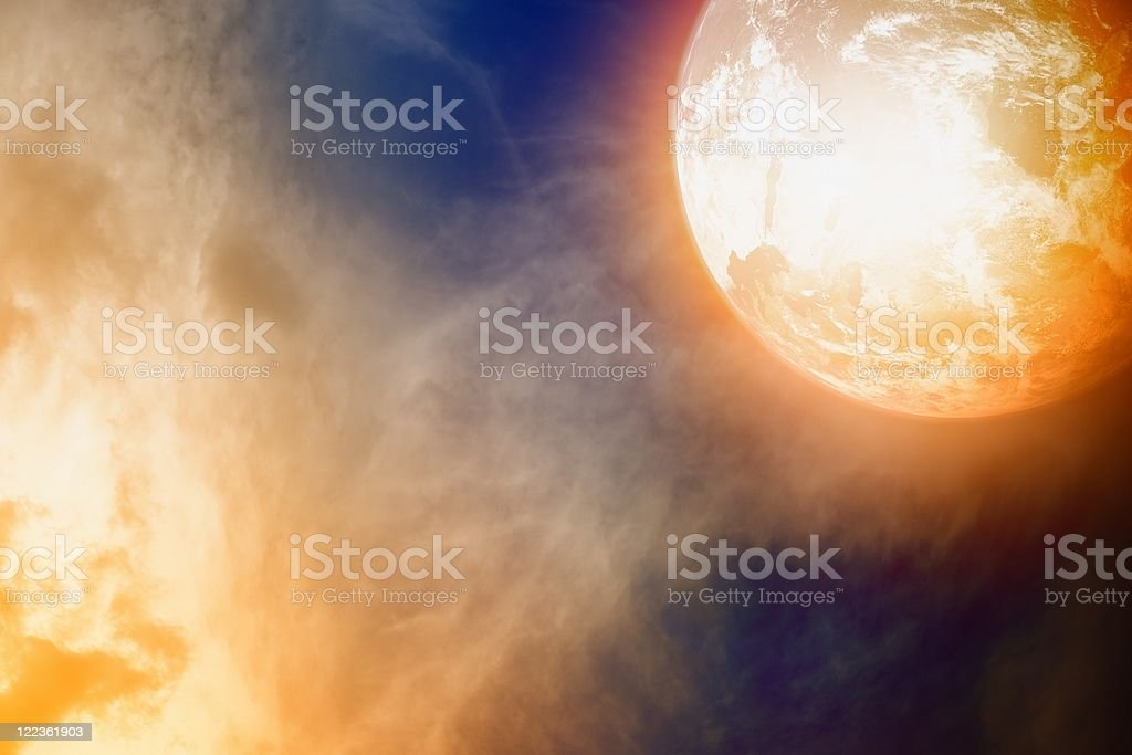 Glowing planet royalty-free stock photo