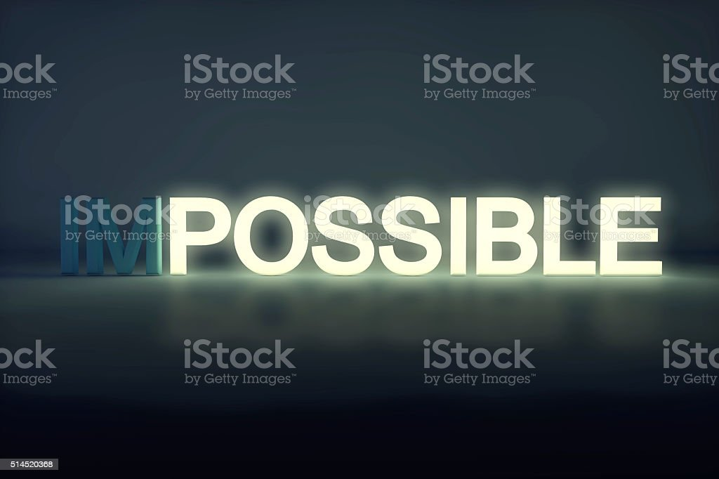 Glowing possible sign stock photo