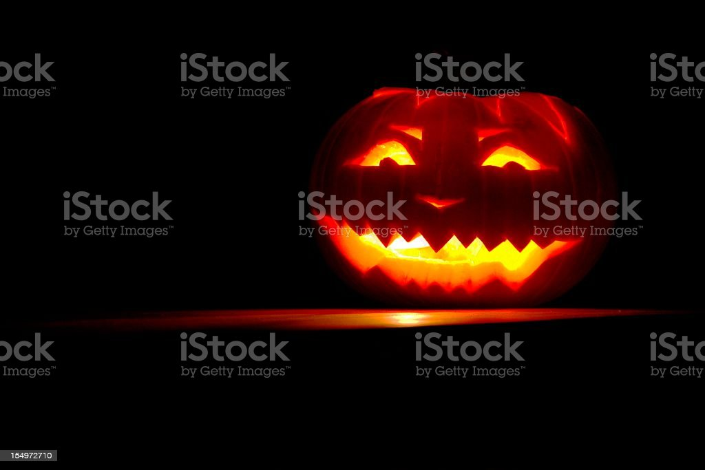 Glowing Pumpkin royalty-free stock photo
