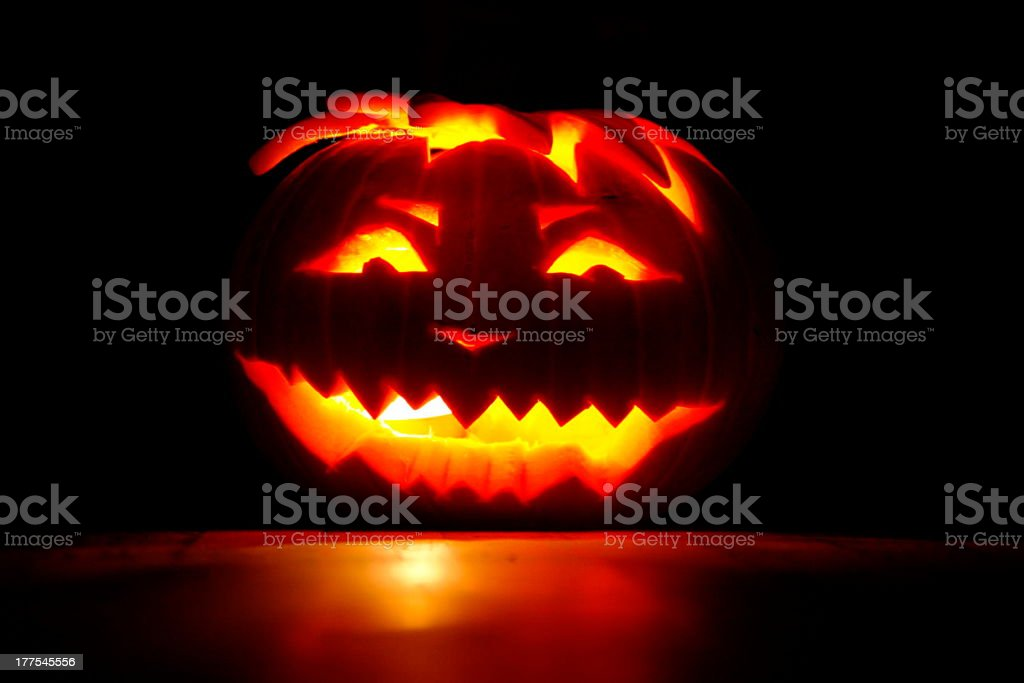 glowing pumpkin royalty-free stock photo