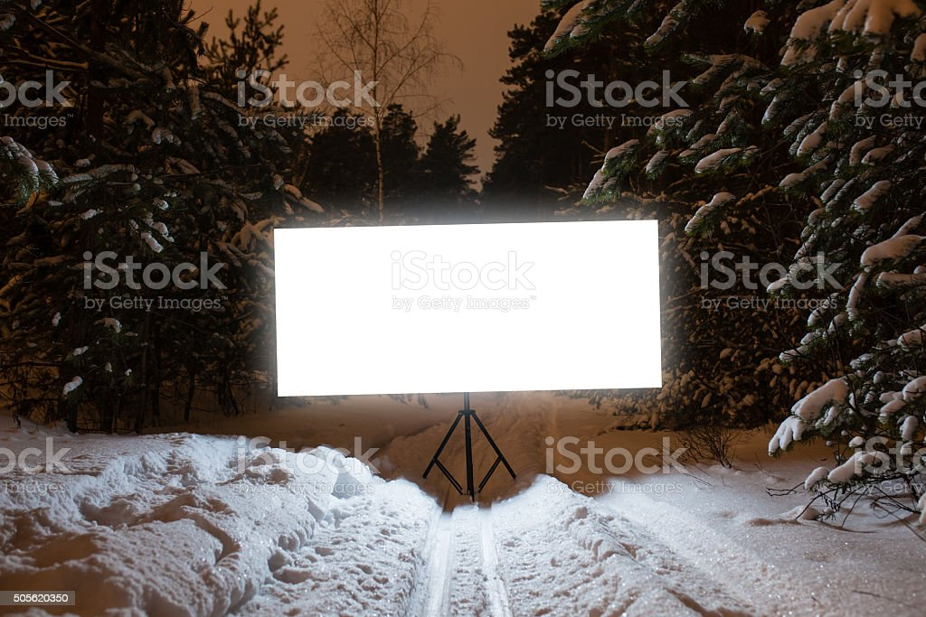 Glowing rectangular sign stock photo