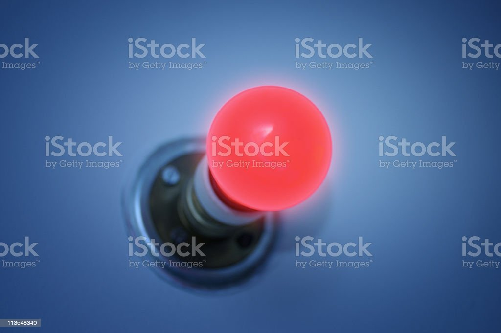 Glowing red light stock photo