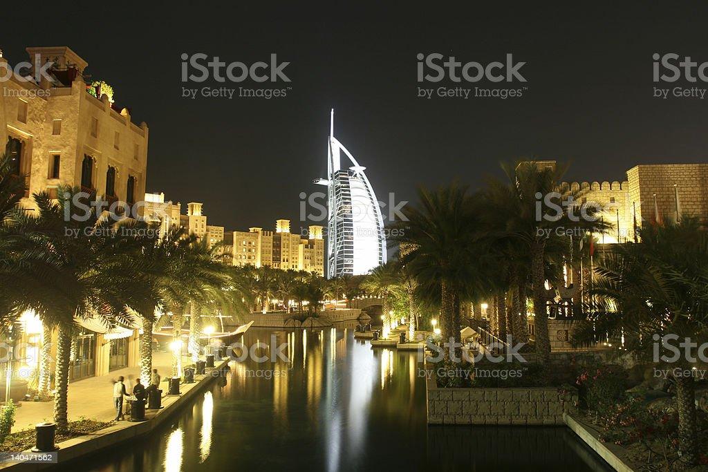 Glowing Resort City royalty-free stock photo