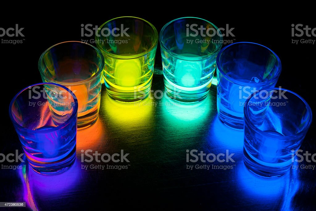 Glowing Shots stock photo