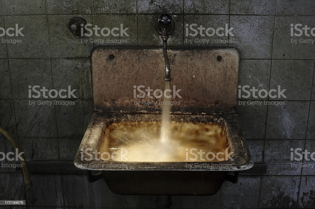 glowing sink royalty-free stock photo