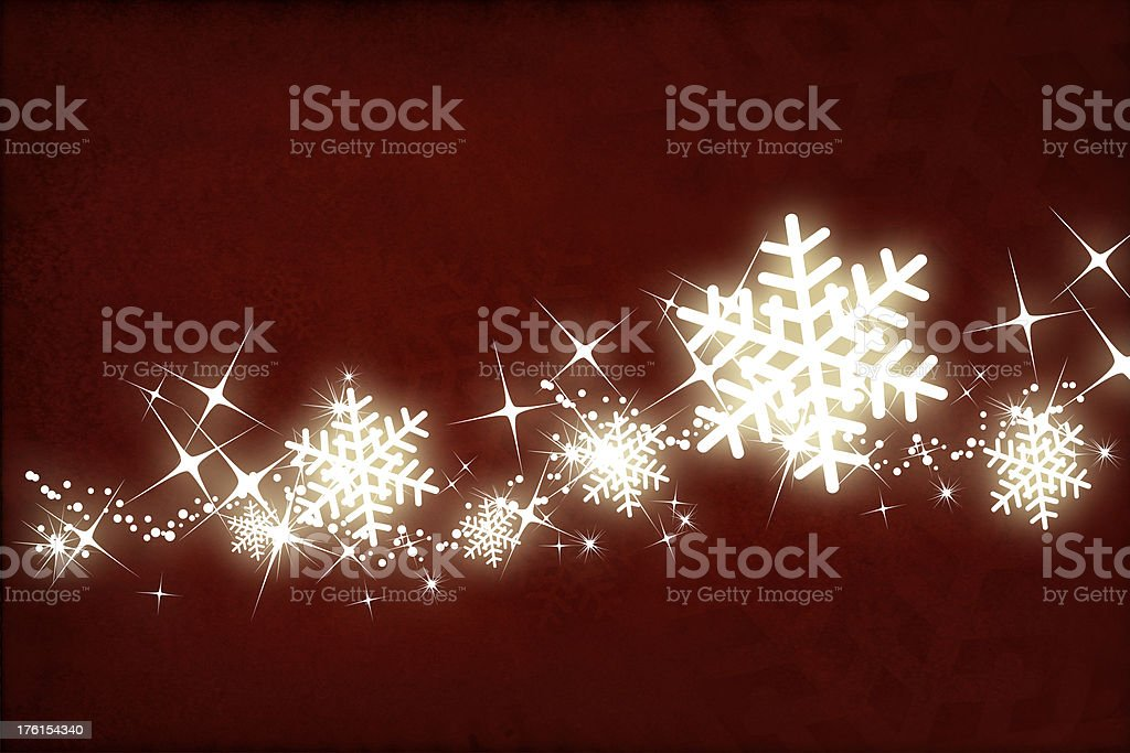 Glowing snowflakes stock photo