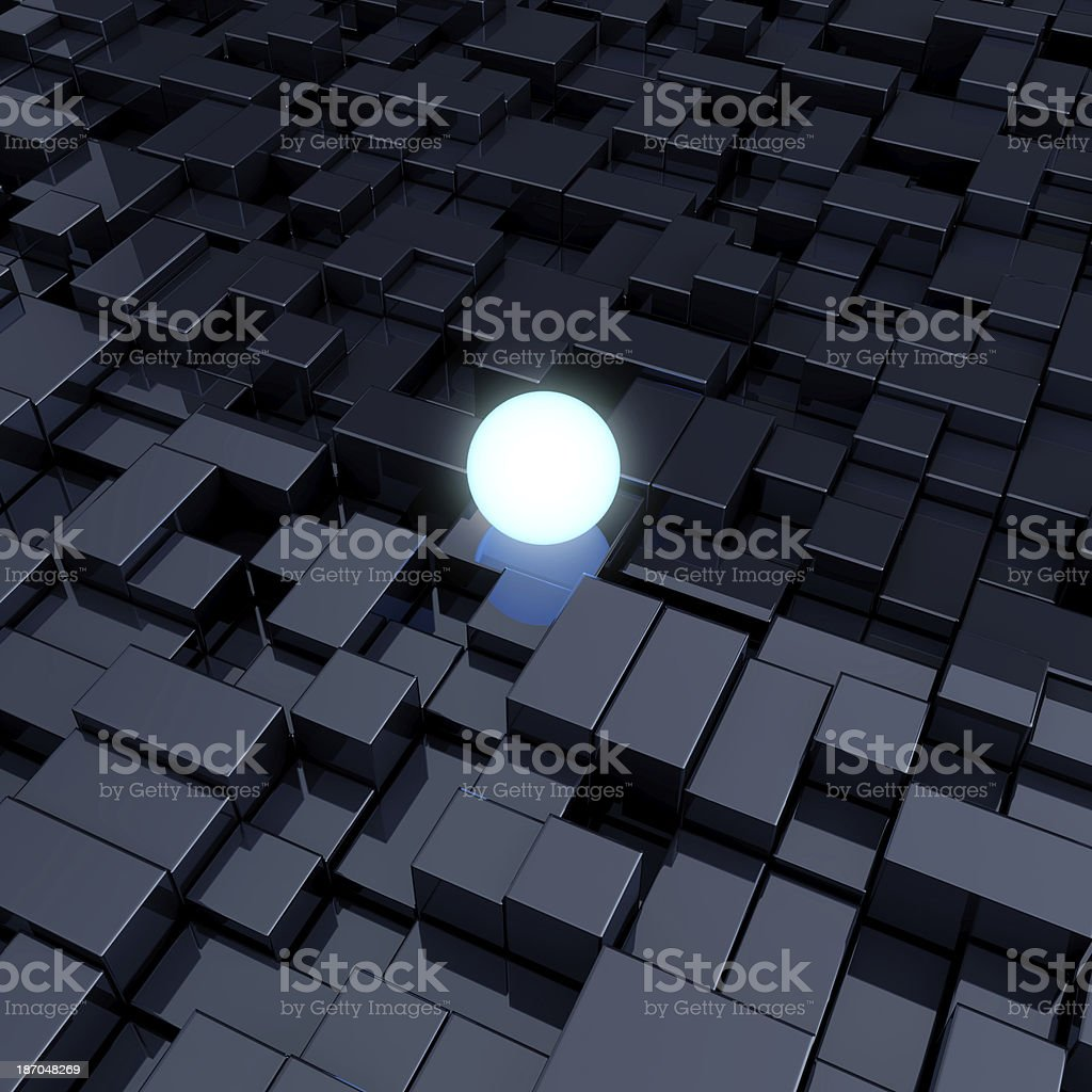 Glowing sphere stock photo