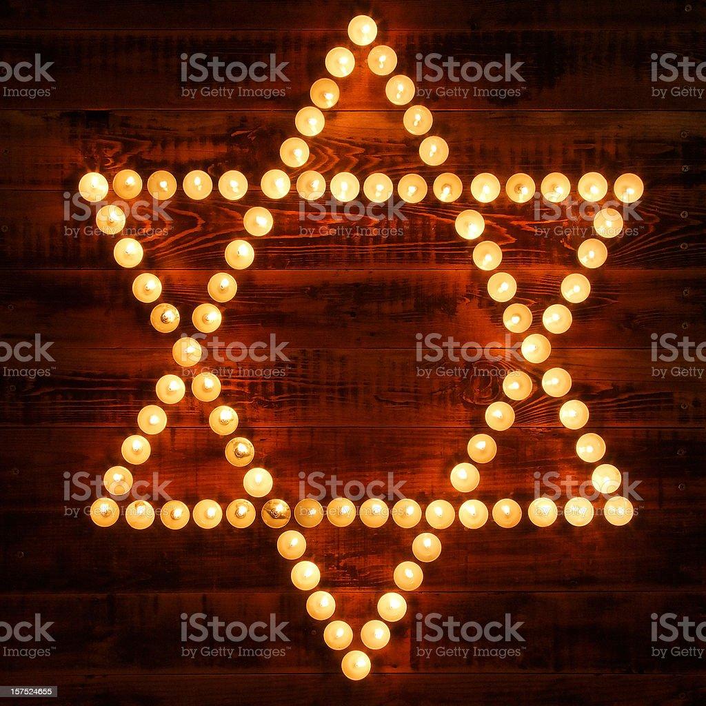 Glowing Star of David royalty-free stock photo