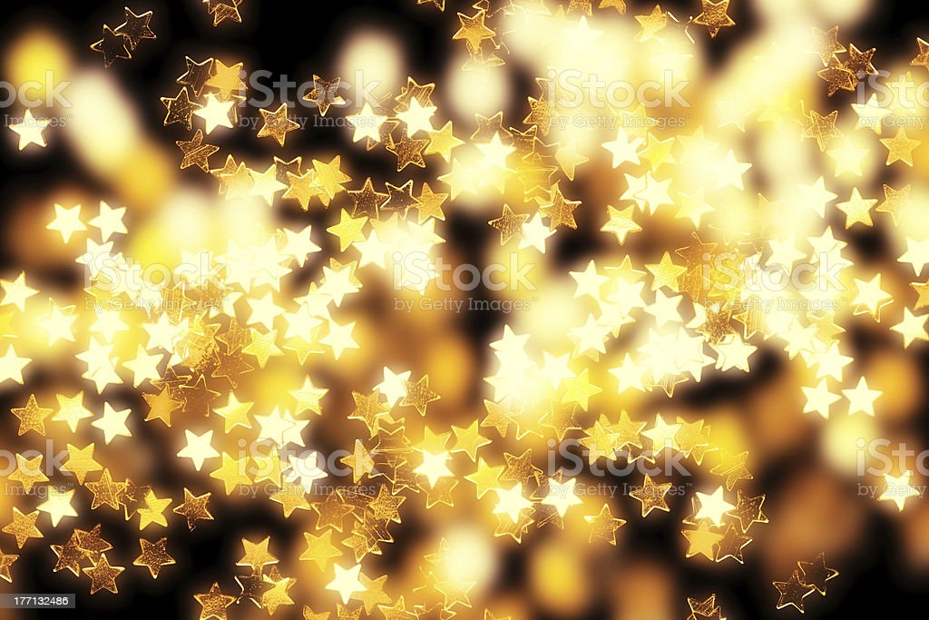 Glowing stars and lights royalty-free stock photo