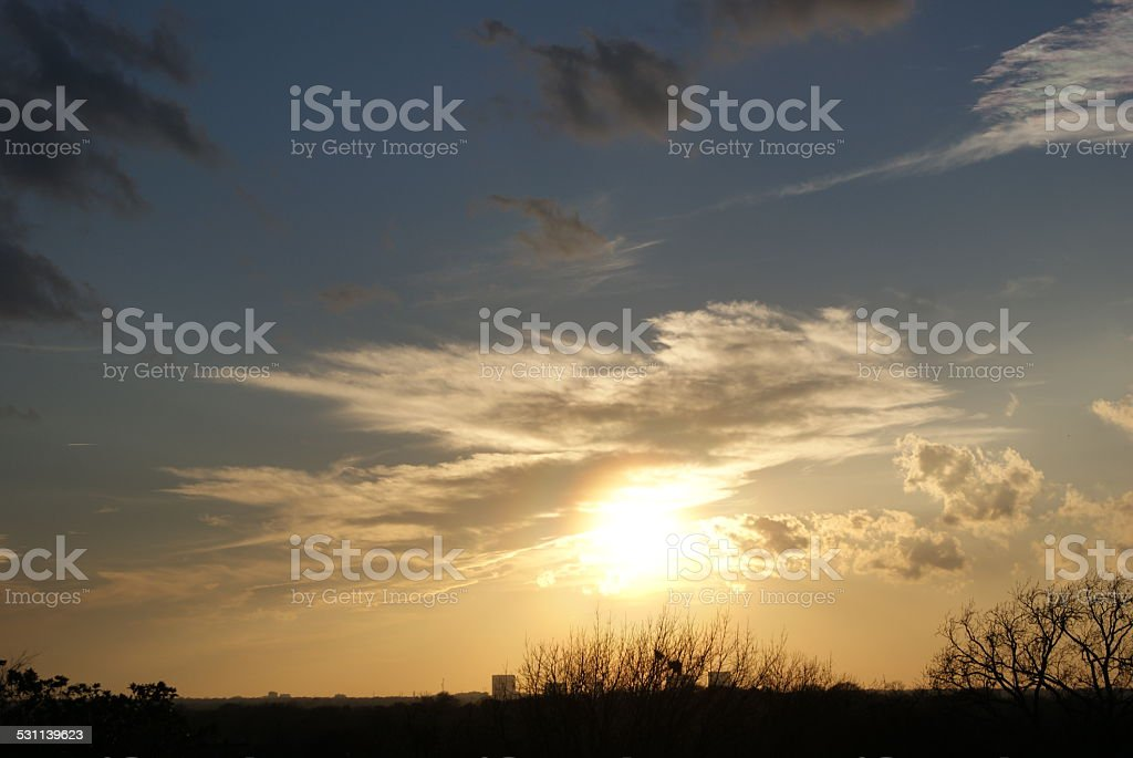 Glowing Sun royalty-free stock photo
