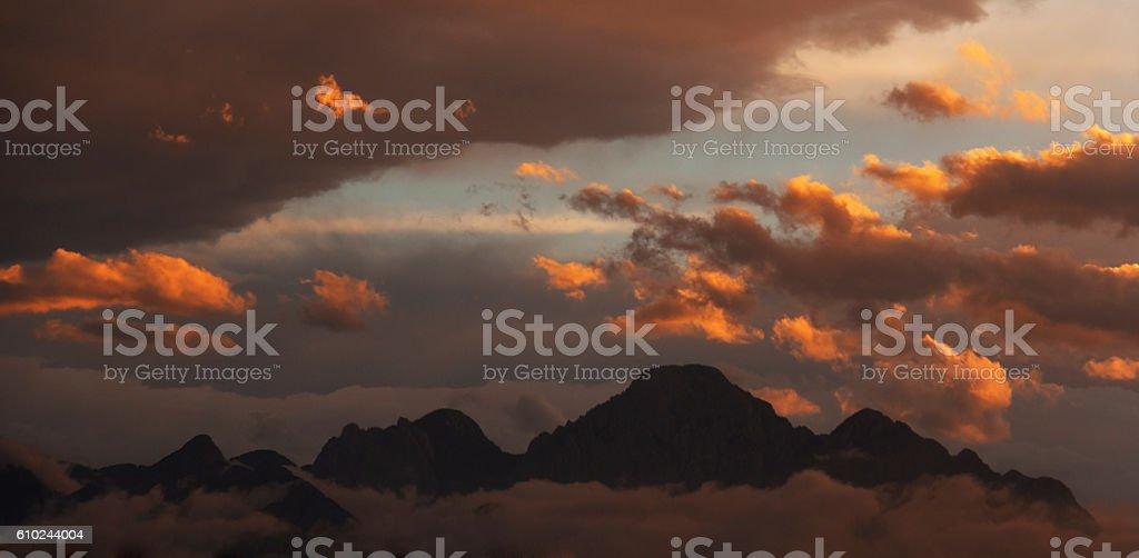 Glowing Sunrise stock photo