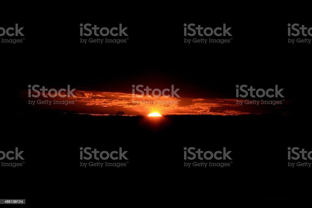 Glowing sunset stock photo