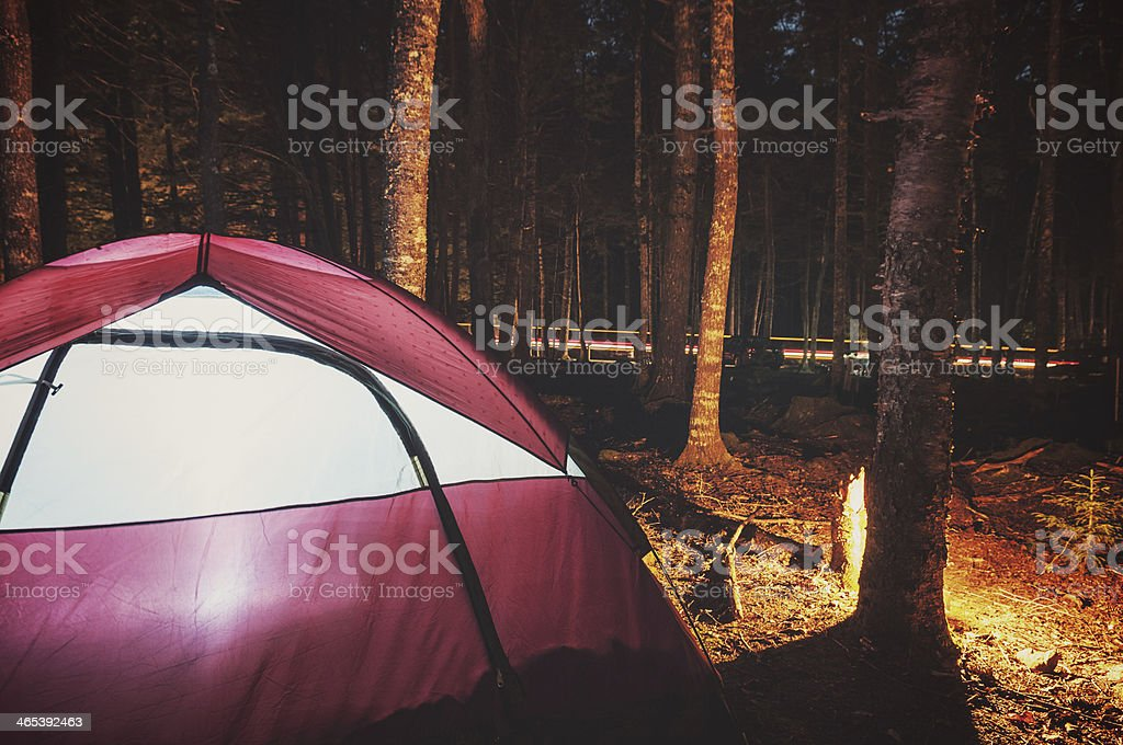 Glowing Tent stock photo