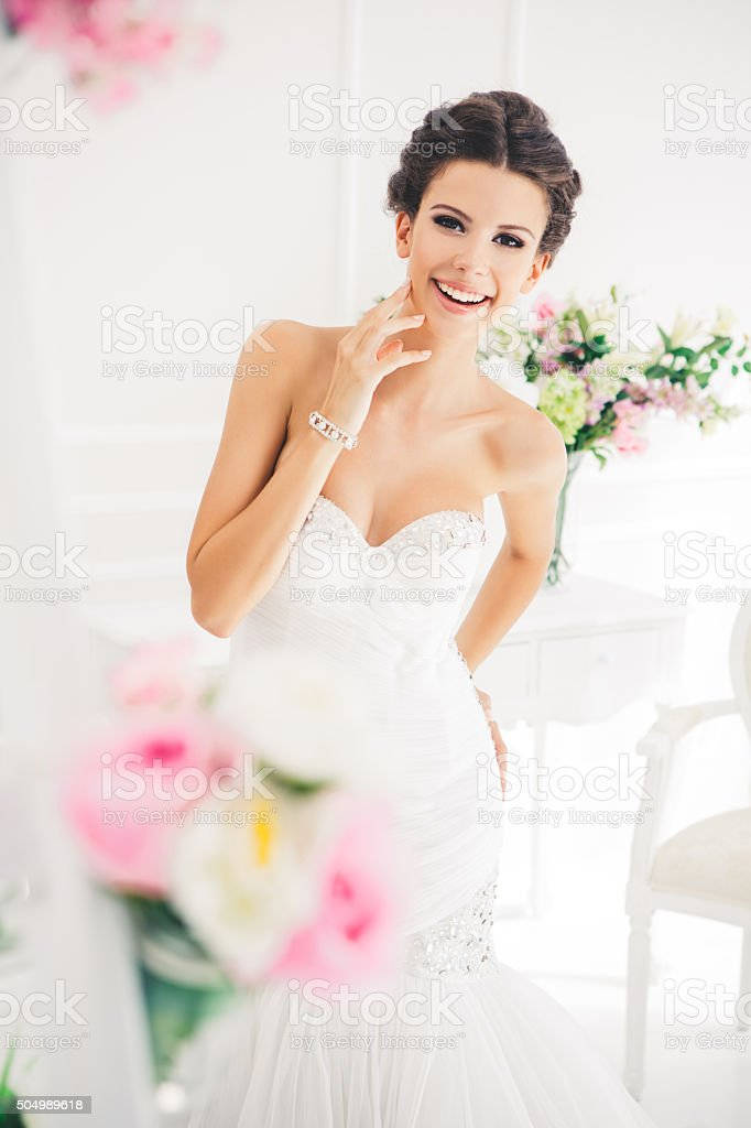 Glowing with happiness stock photo