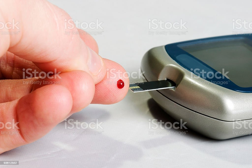 Glucose blood level testing tool royalty-free stock photo