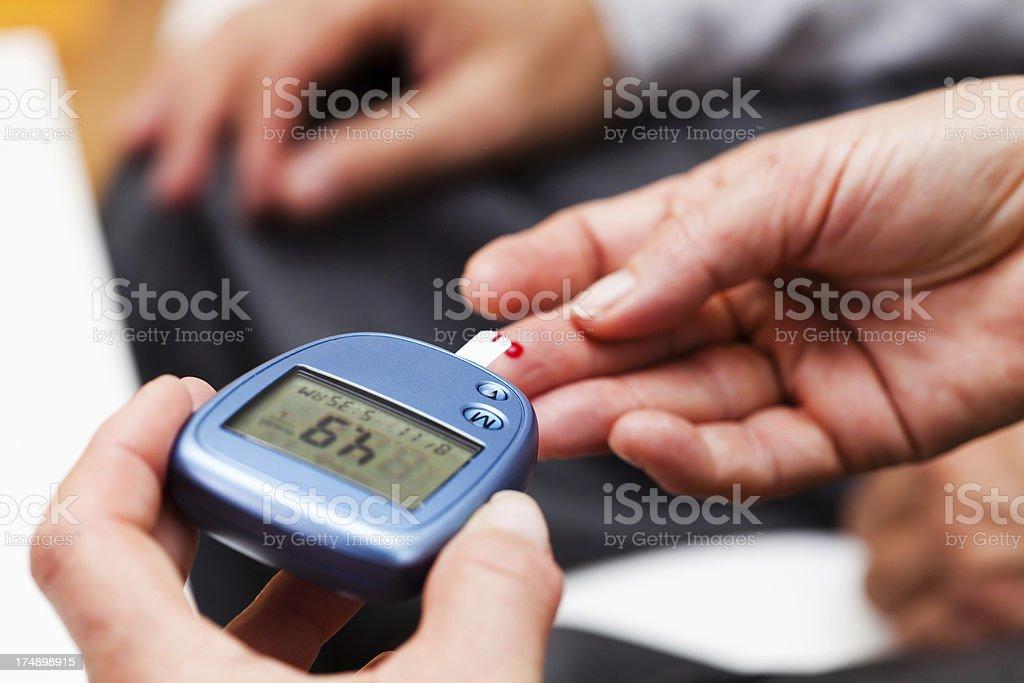 Glucose Blood Test stock photo
