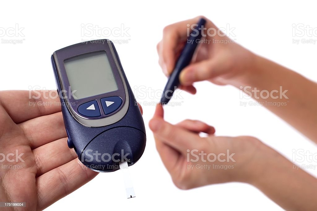 Glucose level blood test royalty-free stock photo