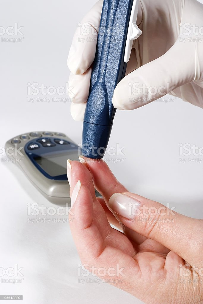 Glucose level blood test royalty-free stock photo