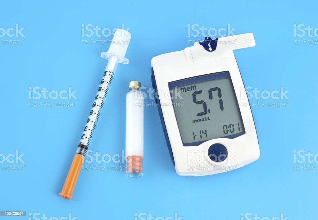 Glucose meter royalty-free stock photo