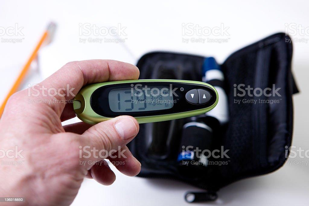 Glucose Monitor With Diabetes Kit stock photo