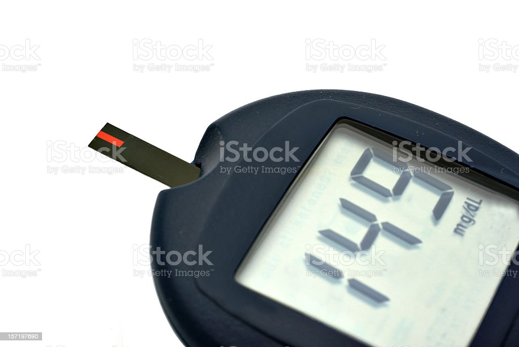glucose test meter royalty-free stock photo