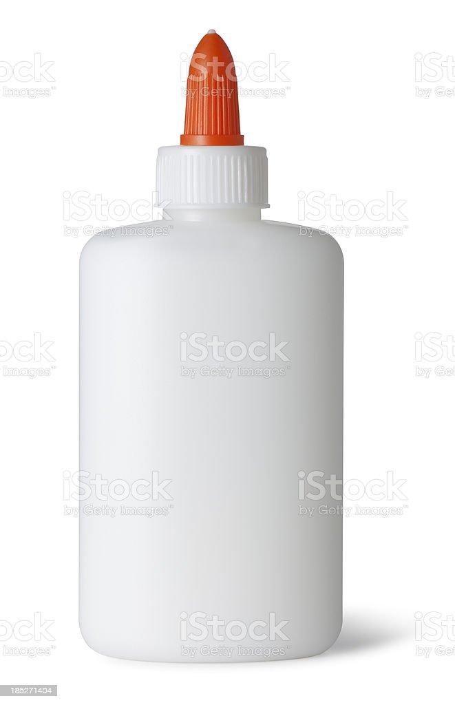 Glue Bottle on White stock photo