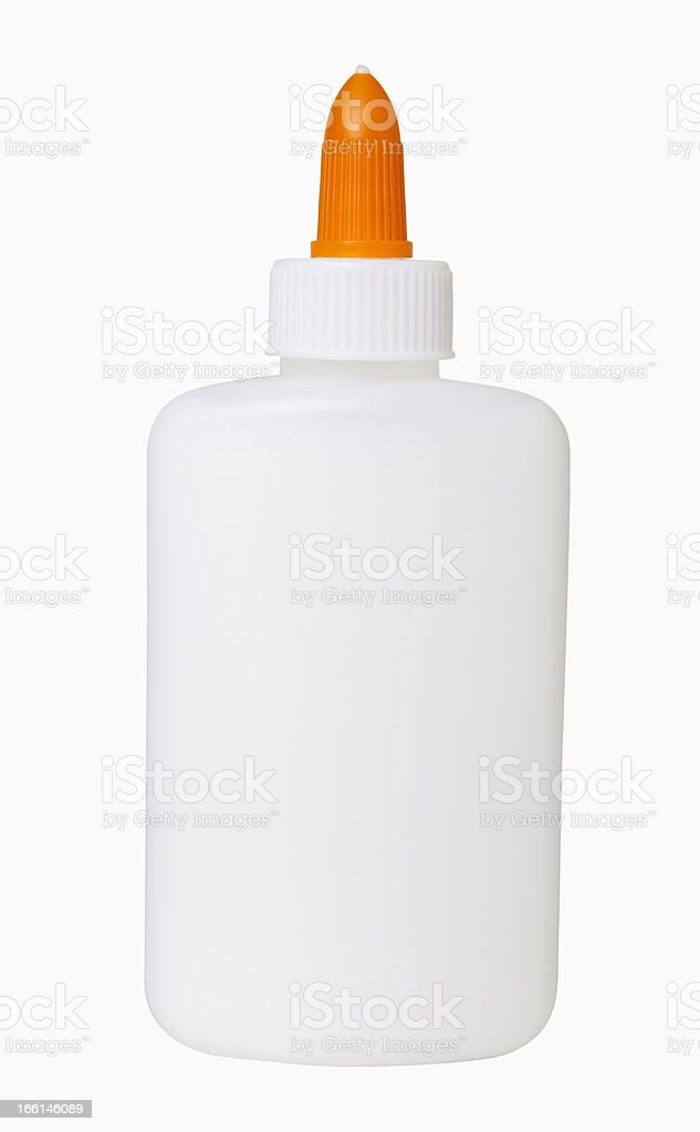 Glue Bottle stock photo