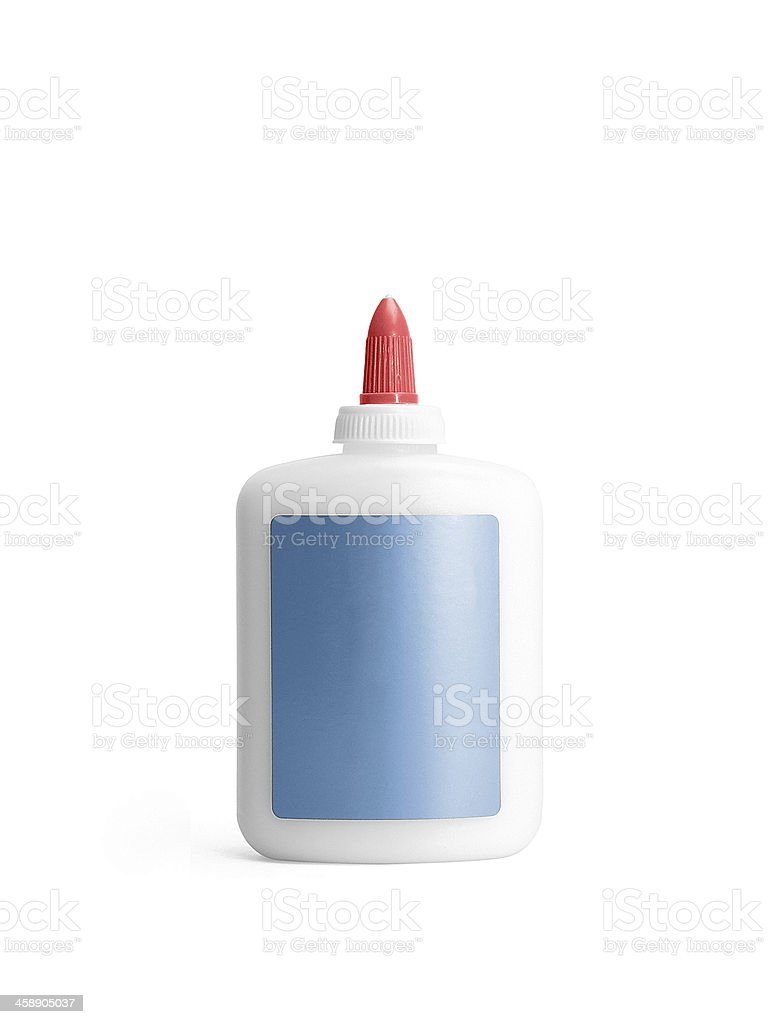 Glue Bottle with Path stock photo