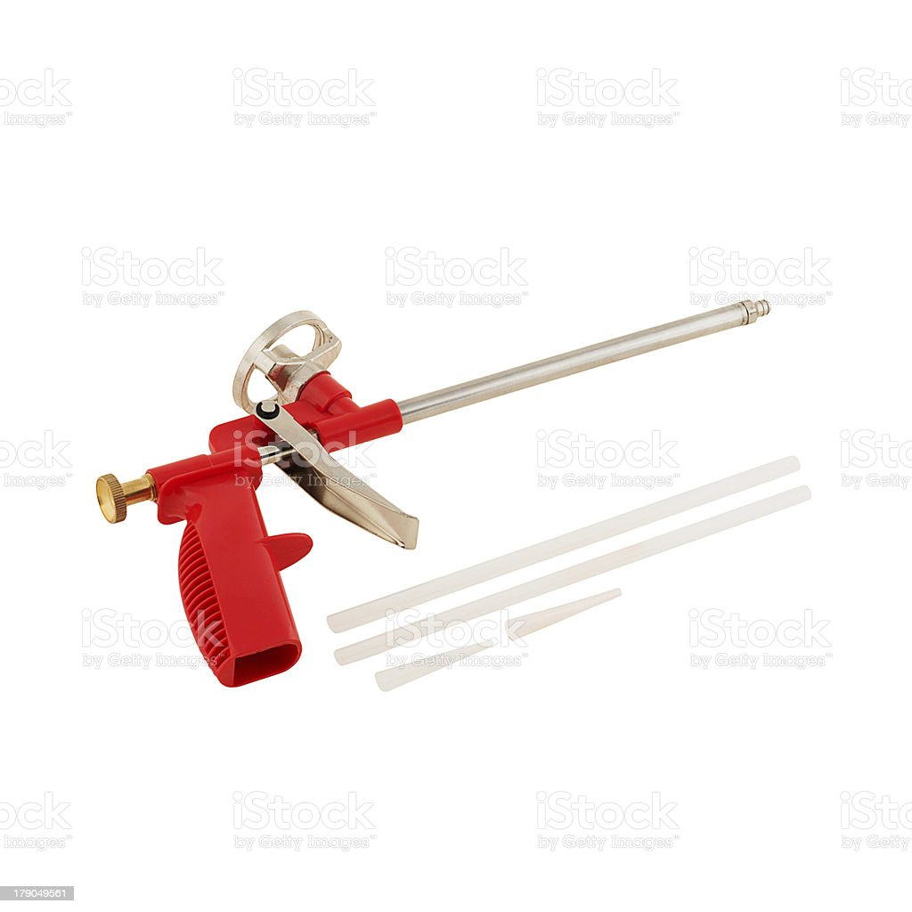 Glue gun isolated royalty-free stock photo