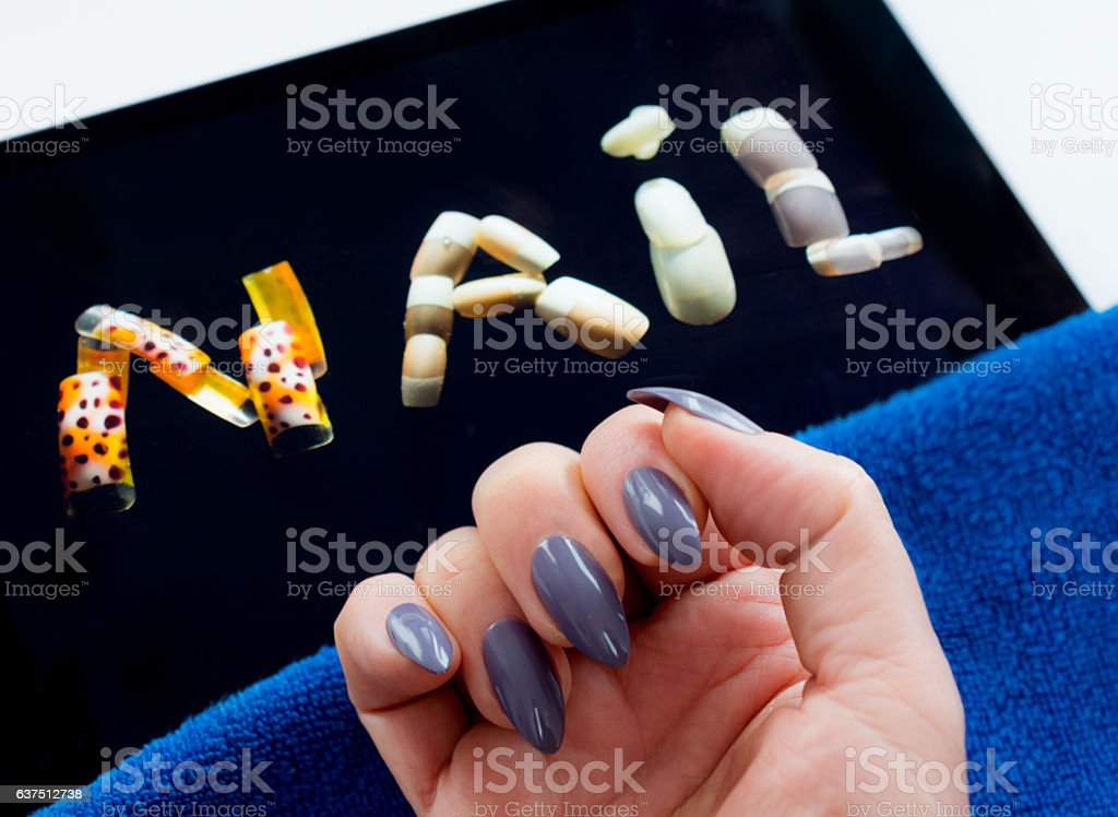 Glue - on - nails stock photo