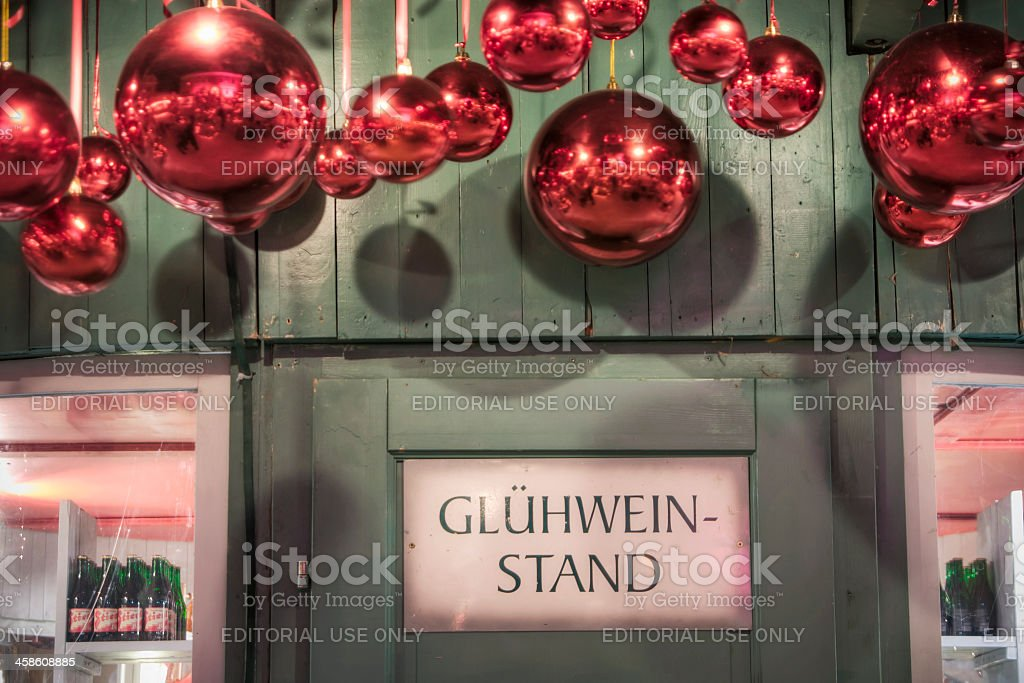 Gluehwein Stand at Christmas Market royalty-free stock photo