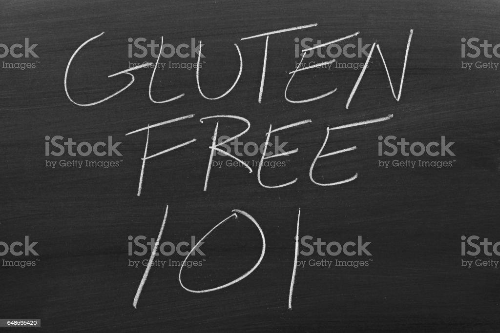 Gluten Free 101 On A Blackboard stock photo