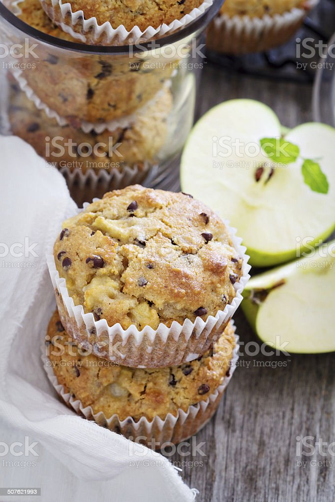 Gluten free almond and oat muffins stock photo