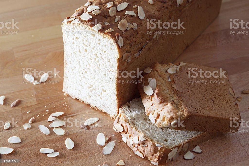 Gluten Free Almond Bread Unsliced royalty-free stock photo