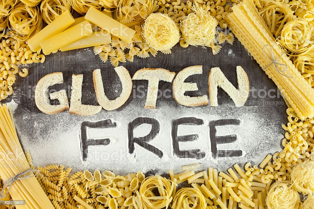 Gluten free and healthy stock photo
