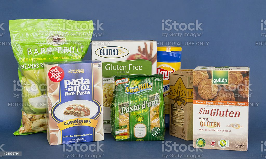 Gluten Free Assorted Products stock photo