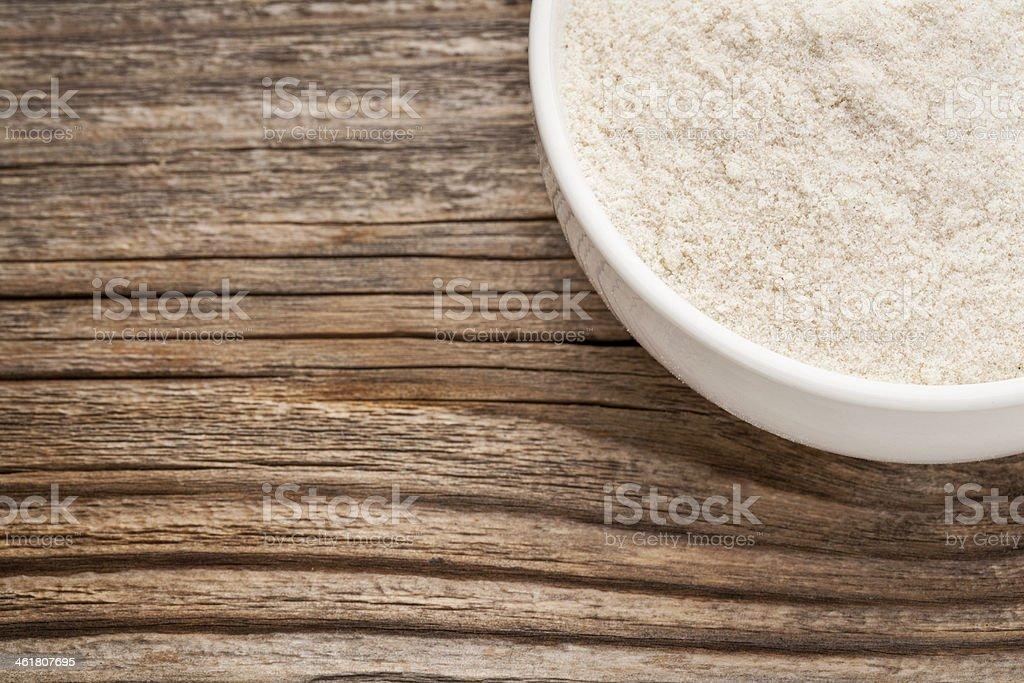 gluten free brown rice flour stock photo